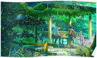 The Garden Of Words Kotonoha No Niwa Poster Garden Of Words Slice Of Life Anime Anime Movies