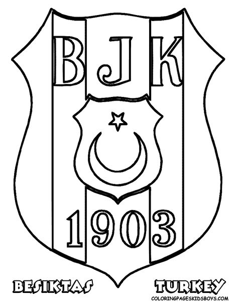 Besiktas Football Soccer Coloring Sheet Hayvanlar Spor