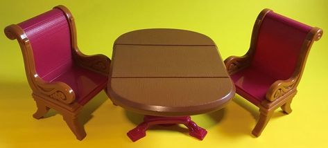 Loving Family Miniature Dollhouse Dining Room Furniture Table And