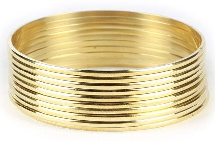 4Pc Snake Bollywood 24ct 24K Gold Plated Sleek Indian Bridal Bangle Bracelet Set