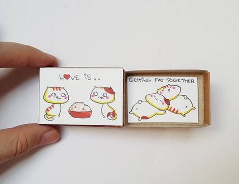 Witty Love Card/ Funny Love Card/ Cute Matchbox Gift/ I Love You/ Valentine gift for her/ Love Is Ge