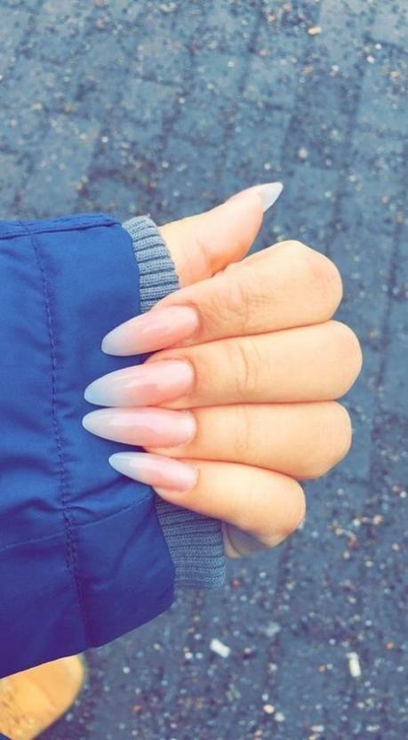 41 Super Ideas For Nails Almond Natural Colour Long Almond Nails Natural Nails Pretty Nails