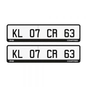 Jeep Compass Number Plate Orbiz Custom Gel Car Number Plate