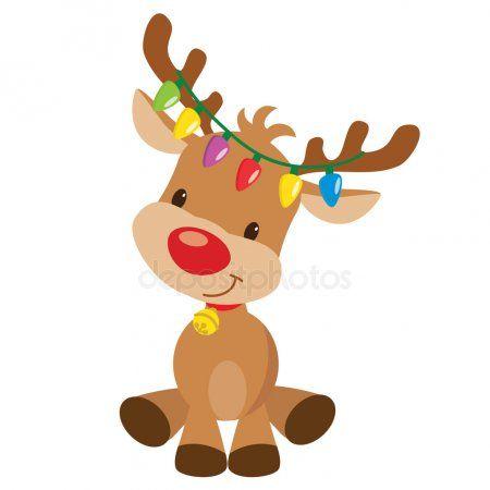 Renos De Navidad Vector Ilustracion De Dibujos Animados Ilustracion De Stock Dibujos Renos Navidad Dibujos De Renos Dibujo De Navidad