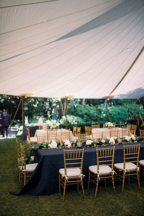 Beautiful Dark Blue And Gold Wedding Reception Ideas To Inspire You