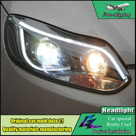 Car Styling Head Lamp For Ford Focus Mk3 Headlights 2012 2014 Led Headlight Drl Bi Xenon Lens High Low Beam Parking Fog Light Car Lights Lights Installation
