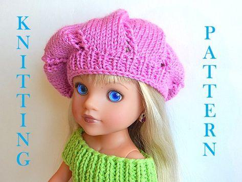 2fd712c720e5f Digital Knitting pattern PDF Hat Beret Cap for dolls 12
