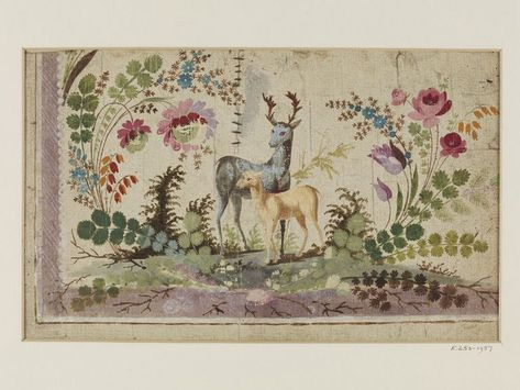 Photo of Embroidery design   Pillement, Jean   V&A Search the Collections