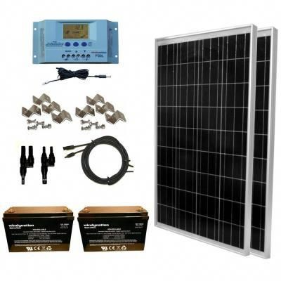Grape Solar 540 Watt Off Grid Solar Panel Kit Gs 540 Kit Bt The Home Depot Solar Panel Kits Solar Energy Panels Solar Panels