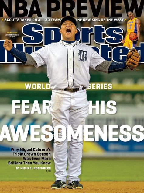Your Regional Cover This Week: Fear His Awesomeness featuring Triple Crown Winner Miguel Cabrera from the Detroit #Tigers