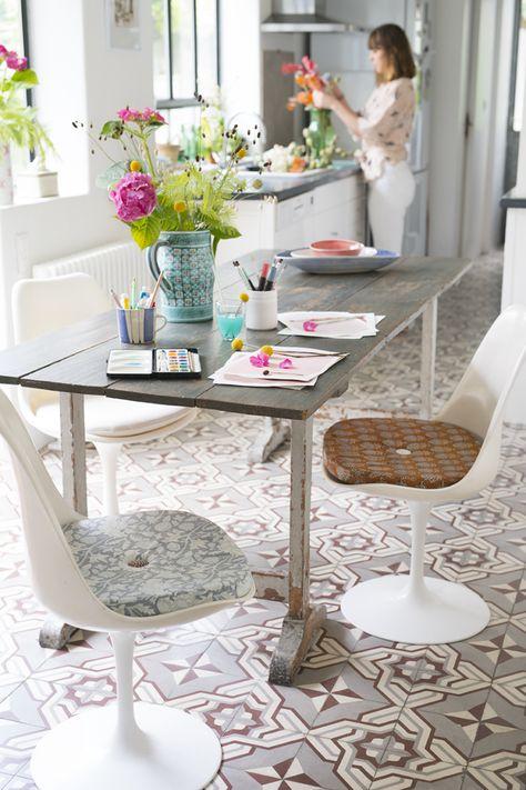 DIY : coudre des coussins pour les chaises de la maison