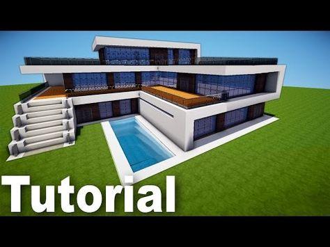 Como Hacer una Mansion Moderna en Minecraft parte 1 YouTube Casas minecraft fáciles Casas minecraft Minecraft moderno