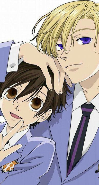 Tamaki Suoh x Haruhi Fujioka from Ouran High School Host Club. Colégio Ouran Host Club, Ouran Highschool Host Club, Host Club Anime, High School Host Club, Manga Anime, Me Anime, I Love Anime, Anime Guys, Anime Art