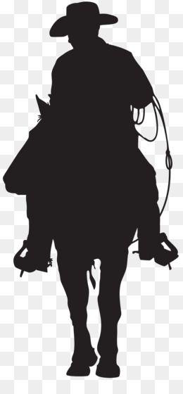 Silhouette Cowboy American Frontier Clip Art Cowboy Silhouette Png Clip Art Image Unlimited Download Kisspng Com