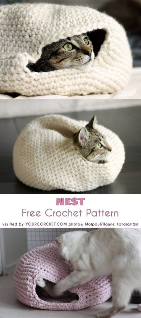 Crochet Cat Couches and Beds • Oombawka Design Crochet | 1024x455