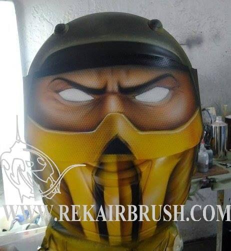 Airbrushed Motorcycle Helmets by REKairbrush