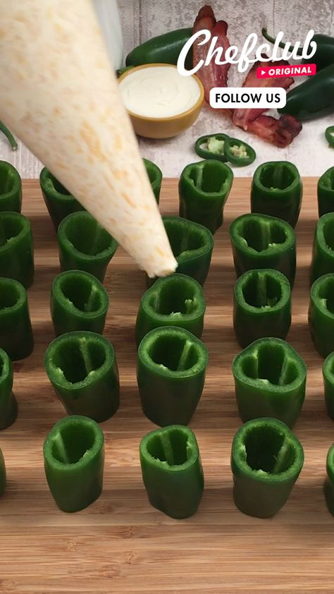 Check out our delicious appetizer pizza, perfect for game day! Jalapeño peppers, stuffed with cream cheese and rolled up in pizza dough, this easy recipe is sure to be a crowd pleaser. For more superbowl food ideas, visit Chefclub.tv!