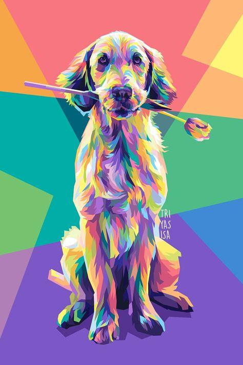 Dog Illustration in WPAP