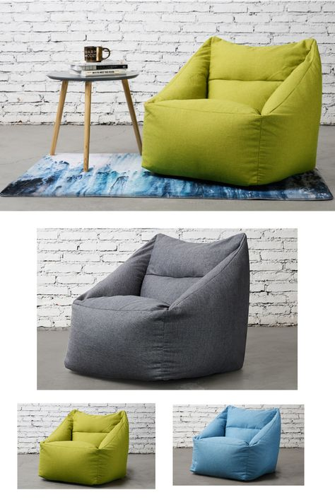 Bean Bag Arm Chair Bean Bag Chair Bean Bag Living Room Grey Leather Dining Chair