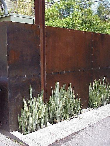 Corten Steel Wall By Leta Fence Design Privacy Fence Designs