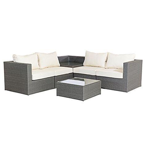 Mmt Rattan Grey Garden Furniture L Shaped Corner Sofa Grey Garden Furniture Patio Furniture Pillows Rattan Furniture Set