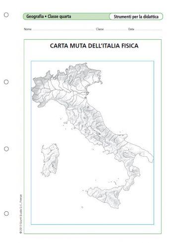 Italia Fisica Cartina Muta.Carta Muta Dell Italia Fisica La Vita Scolastica Il Mare