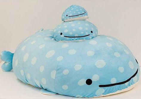 """11/"""" Medium San-x Whale Shark Plush Dolls Jinbei-San Super Cute Pillow Plush Toys"""