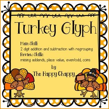 Want To Add Seasonal Pizzazz To 2 Digit Addition And Subtraction Practice Students Will Gobble Up This Pract Addition And Subtraction Subtraction Turkey Glyph