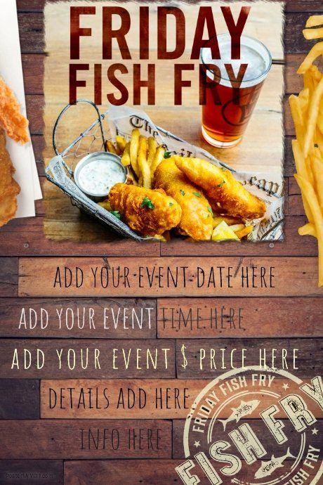 Fish Fry Flyer Template Inspirational Fish Fry Food Restaurant Special Seafood Party Reunion Fried Fish Food Special Recipes