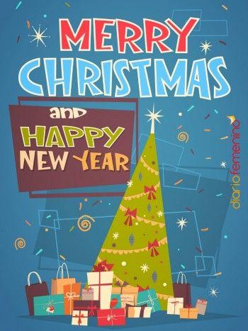 Christmas Para Felicitar La Navidad Y El Año Nuevo En Inglés A Tus Amigos Feliz Navidad En Ingles Nuevo En Ingles Colores De Navidad