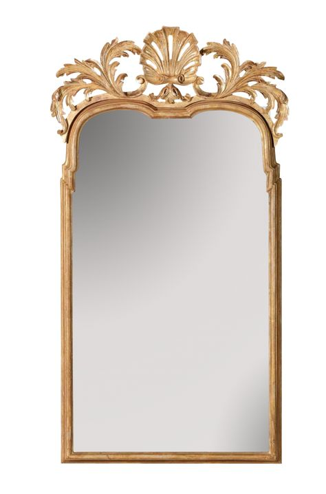 Queen Anne Mirror With A Carved Giltwood Shell Custom Mirrors