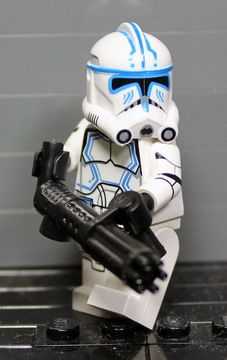 Minifiguras Lego Star Wars-Clone Trooper Personalizado Capitão Rex Mark 1 Capacete