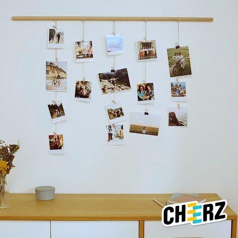 Imprimez vos photos avec Cheerz et confectionnez une super déco personnalisée ! 😍📸