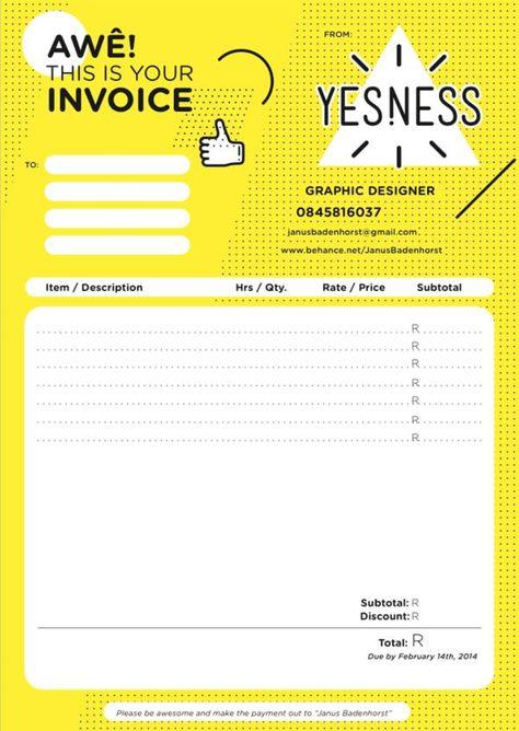 Invoice Design 50 Examples To Inspire You Invoice Design Self Branding Design