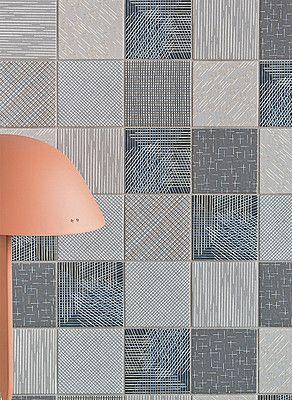 Wand- und Bodenbelag aus Feinsteinzeug TRATTI AQUA By MUTINA Design Inga Sempé - Home living color wall treatment kitchen design