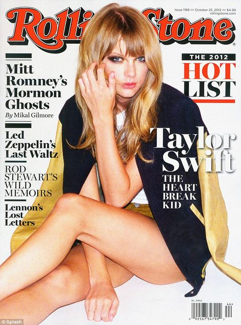 Taylor Swift smoulders on Rolling Stone cover as she's forced to deny claims she cheated on Conor Kennedy with cousin Patrick Schwarzenegger
