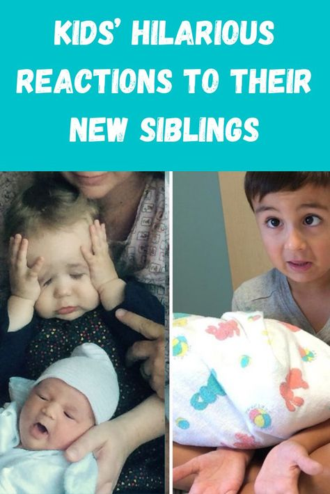 If you're looking for a good laugh today, or possibly something to share with your beloved siblings, this is the list for you! Check out these kids' over-the-top reaction to their newest siblings!