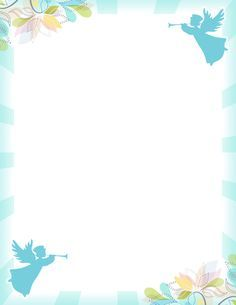 Printable angel border. Free GIF, JPG, PDF, and PNG downloads at http://pageborders.org/download/angel-border/