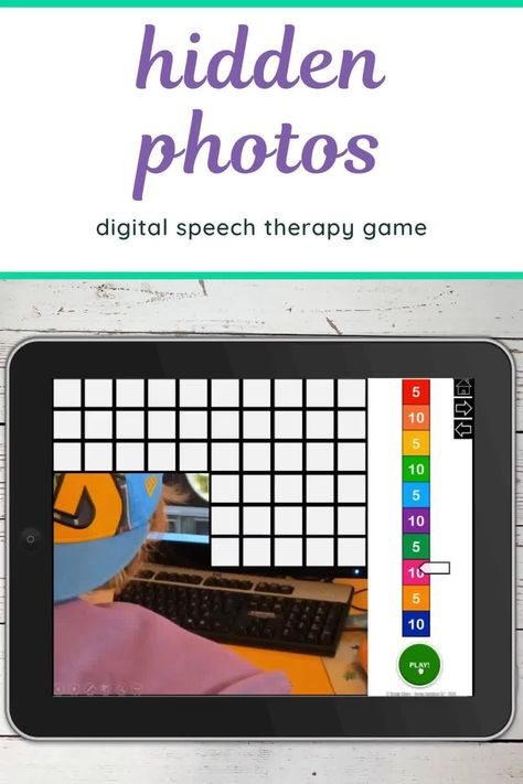 Computer Games 100 Trials No Print Hidden Images for Speech and Articulation