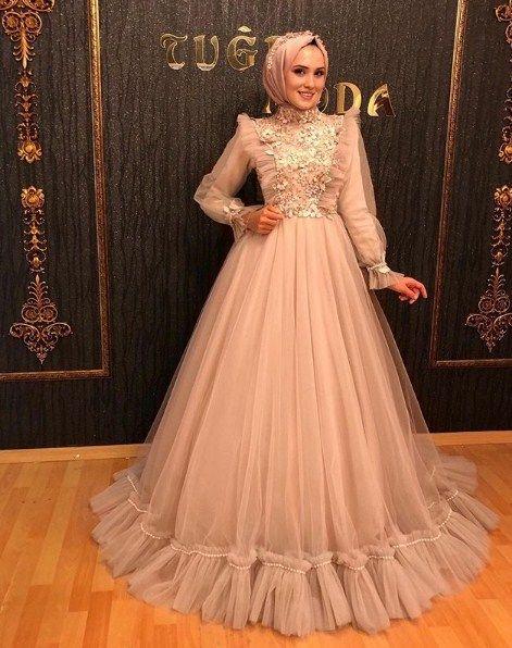 2020 Tesettur Soz Nisan Elbisesi Modelleri Alimli Kadin Moda Stilleri The Dress Elbiseler