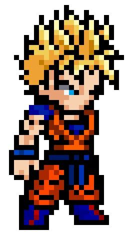 Pin By Elias Reyes On Gohan Pixel Art Disney Characters
