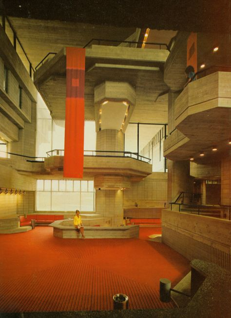 Southeastern Massachusetts Technological Institute (UMASS Dartmouth) by Paul Rudolph, 1966 Chinese Architecture, Space Architecture, Architecture Details, Public Architecture, Minecraft Architecture, Futuristic Architecture, 80s Interior Design, Interior And Exterior, Cities