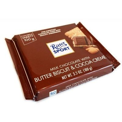 Ritter Sport Milk Chocolate With Butter Biscuit Candy Bar 3 5oz Chocolate Milk Chocolate European Chocolate