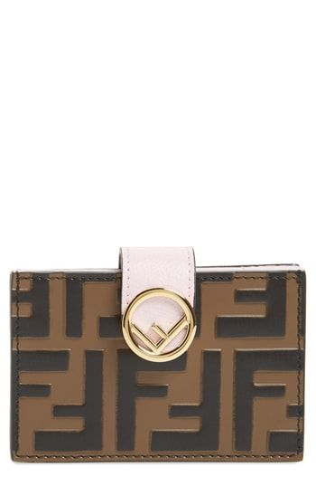 5d5a1a53 Fendi Logo Accordion Leather Card Case   Womens Wallet Styles in ...