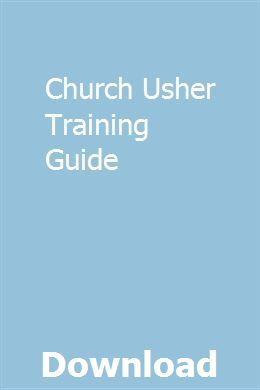 Usher training manual | 12stone resources | 12stone resources.