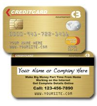 Business card that looks like a credit card kkklinton gold credit card look alike creative new business cards reheart Image collections