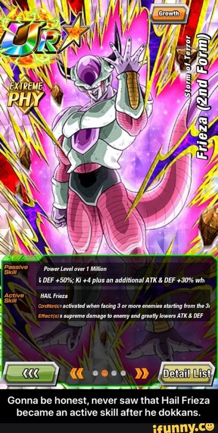 Gonna Be Honest Never Saw That Hail Frieza Became An Active Skill After He Dokkans Gonna Be Honest Never Saw That Hail Frieza Became An Active Skill After Frieza