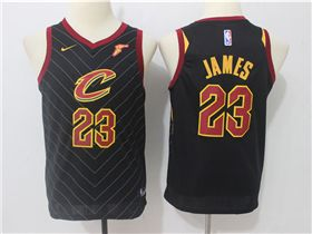 13d67bc66dcd Cleveland Cavaliers #23 LeBron James Youth Black Swingman Jersey ...