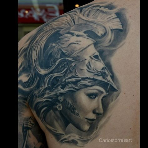 Carlos Torres Art And Tattoo Athena Wonderful Work