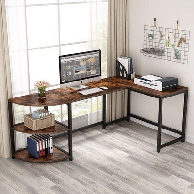 17 Stories Lamm L Shaped Desk L Shaped Desk Corner Computer Desk Home
